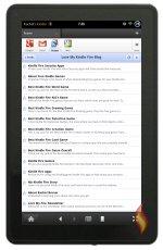 Kindle Fire Web RSS on Google Reader