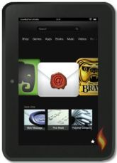 Kindle Fire HD 7 Email App on Carousel