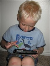 Child Playing with Kindle Fire