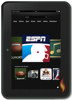Kindle Fire HD 8.9 ESPN App on Carousel