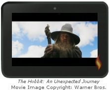 The Hobbit Trailer Video on My Kindle Fire HD