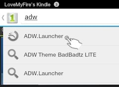 Search for ADW Launcher