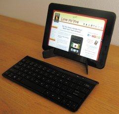 Bluetooth Keyboard Connected to My Kindle Fire