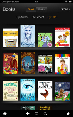 Screenshot of Books on my Kindle Fire HD 7