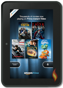 Kindle Fire Special Offer Ad: Amazon Prime