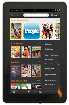 Kindle Fire Newsstand Store