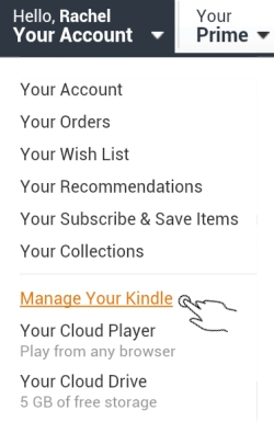 Select Manage Your Kindle
