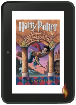 Library Book of Harry Potter and hte Sorcerer's Stone on my Kindle Fire