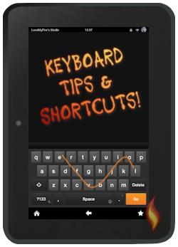 Kindle Fire Keyboard Swipe Tip
