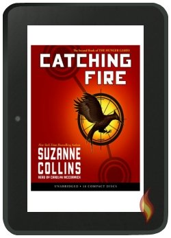 Kindle Fire Audio Book Catching Fire by Suzanne Collins, Cover image copyright Scholastic