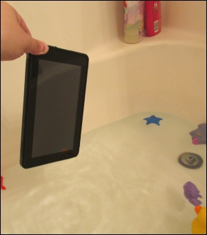 Kindle Fire Dropped in Tub