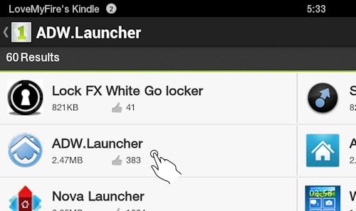 Find ADW Launcher