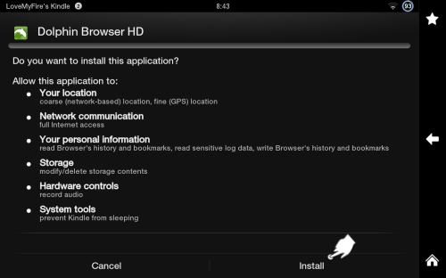 Install Dolphin Browser App