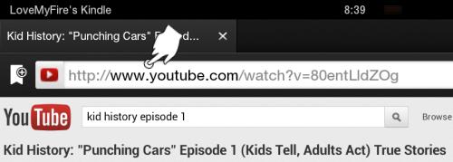 Tap to Edit URL