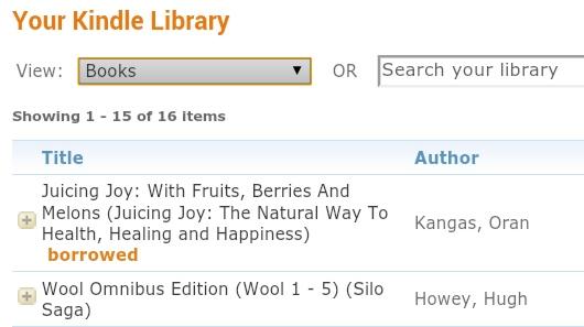 Kindle Book Has Been Borrowed