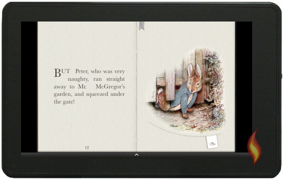 Kindle Fire Book App Peter Rabbit