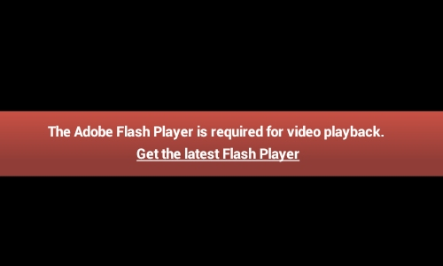 Adobe Flash Player Required Error