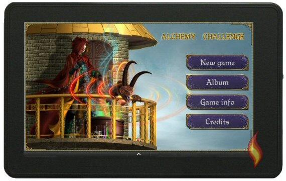 Alchemy Challenge Home Screen