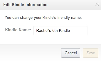 Edit Kindle Information