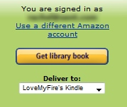 Get Library book when signed in on Amazon.com