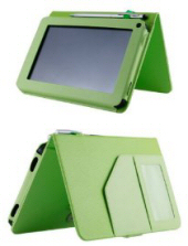 HHI Folio Kindle Fire Cover with Magnetic Stand; Green