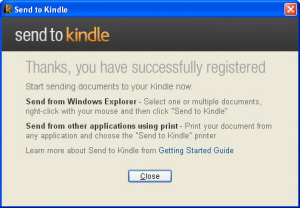 Amazon Send to Kindle Softwar