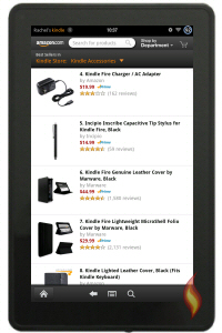 Kindle Fire Accessories on Amazon