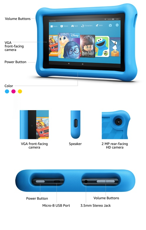 65ff414493b4 2017 Kindle Fire Kids Edition (7th Generation). Tablet Options: 7