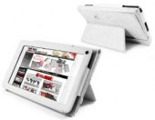 Tuff-Luv Bi-Stander Kindle Fire Cover with Stand; White