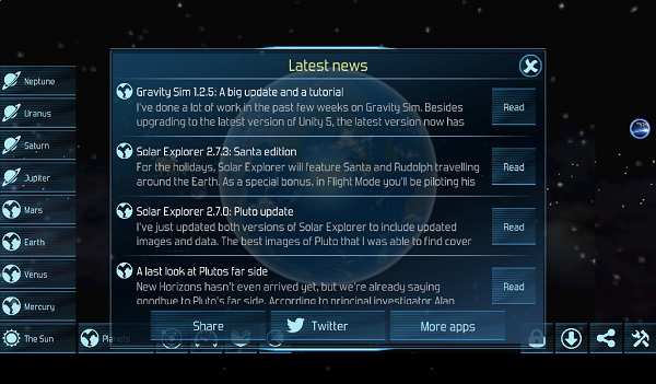 Astronomy Apps For Kindle Fire: Solar System Explorer 3D