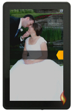 Second Landscape Wedding Photo as Kindle Fire Wallpaper
