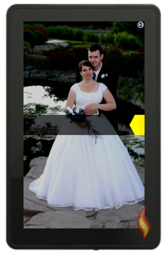 Customized Wallpaper with Wedding Photo
