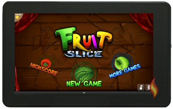 Fruit Slice Game App on Kindle Fir