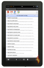 Kindle Fire Web RSS on Google Reader