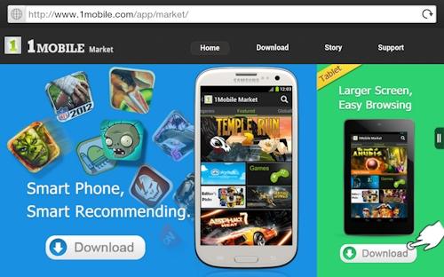 Download the 1Mobile Market App for Tablets