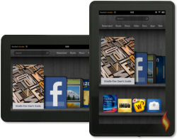 Kindle Fire Features with Rotated Carousel