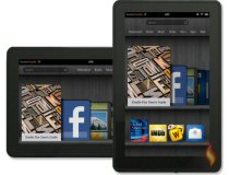 Two Kindle Fire Tablets Showing Home Screen