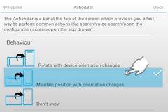 ADW Launcher Action Bar