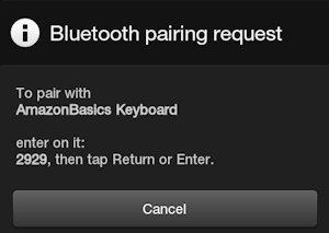 Kindle Fire Pairing Request