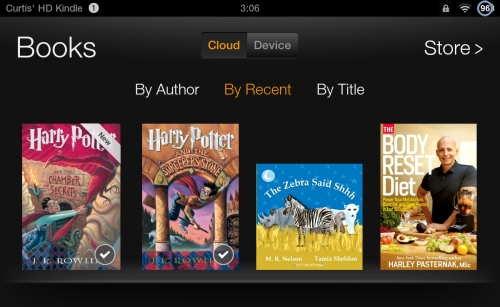 Kindle Fire Books Harry Potter from Local Library