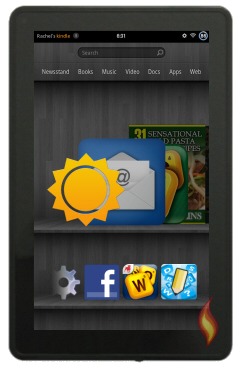 Kindle Fire Carousel Showing Weather App