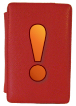 Red Kindle Fire Cover Exclamation Point