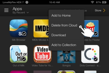 how to delete documents from kindle cloud