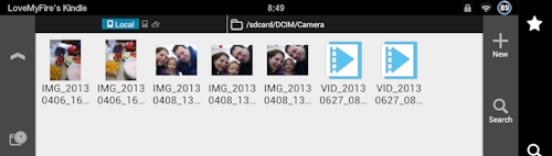 Pictures and Video Files on Kindle Fire