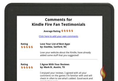 Kindle Fire Testimonials From Site Fans