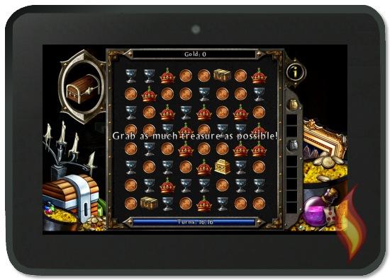 Mini Match Three Game for Looting Treasure