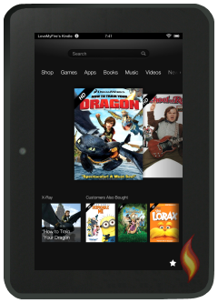 Kindle Fire HD 7 Carousel with Videos