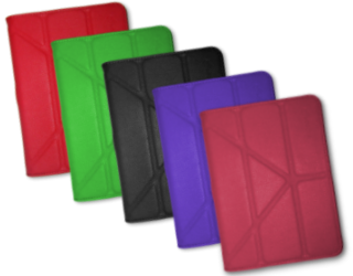 rooCase Origami Kindle Fire Covers: Red, Green, Black, Purple, Magenta