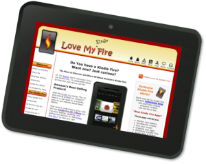 LoveMyFire.com on My Kindle Fire HD Tablet