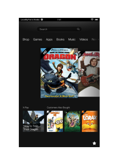 Kindle Fire HD 7 Screenshot of Carousel Showing Videos